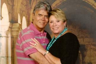 Paulo Barboza e a esposa/Facebook