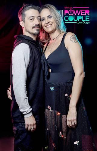 Paulo Rogério e Aritana Maroni (Edu Moraes/Record TV)