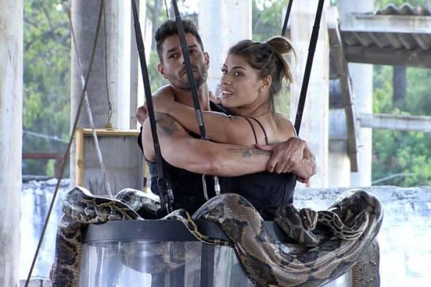 Power Couple - Diego e Fran na prova dos casais (Divulgação/Record TV)