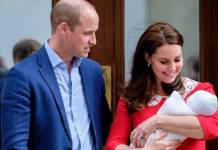 Principe William e Kate Middleton com o novo herdeiro (Reprodução/Instagram/kensingtonroyal)