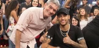 Serginho Groisman e Neymar (Globo/Rogério Fernandes)