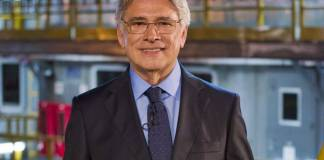 Sérgio Chapelin apresenta, dos Estúdios Globo, o primeiro programa comemorativo dos 45 anos do 'Globo Repórter' (Globo/ Cesar Alves)