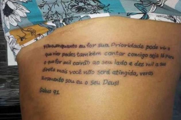 Tatuagem Tati Quebra Barraco - Reprodução/Instagram
