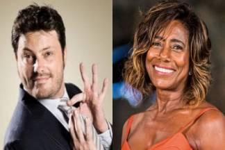 Danilo Gentili e Glória Maria - Montagem/Área VIP