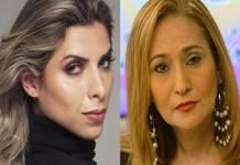 Ana Paula Minerato e Sonia Abrão - Montagem Área VIP