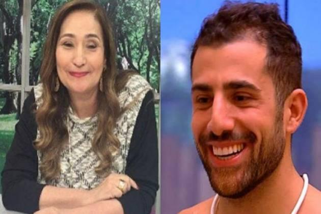 Sonia Abrão e Kaysar - Montagem Área VIP
