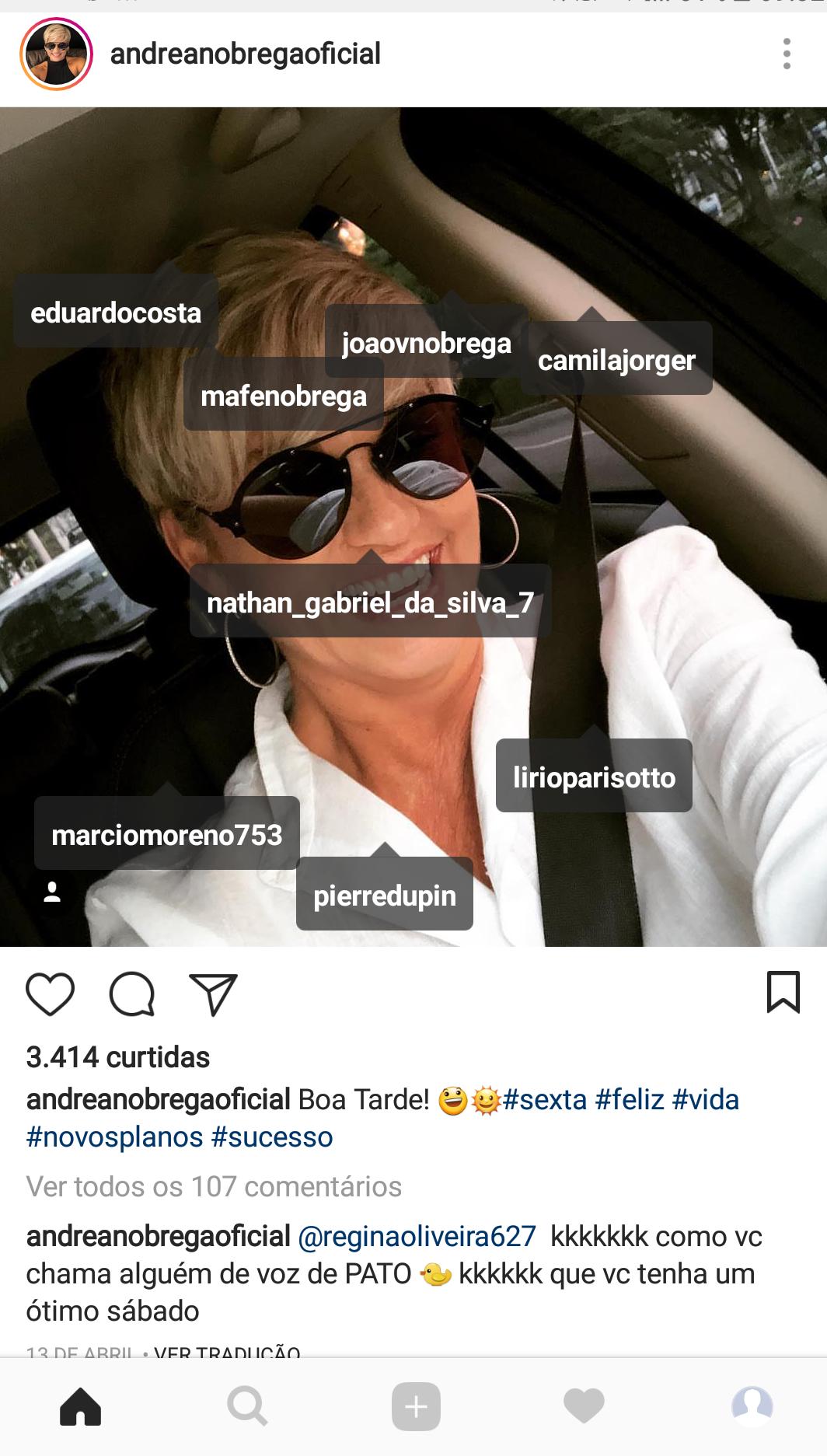 Andréa de Nóbrega/Instagram