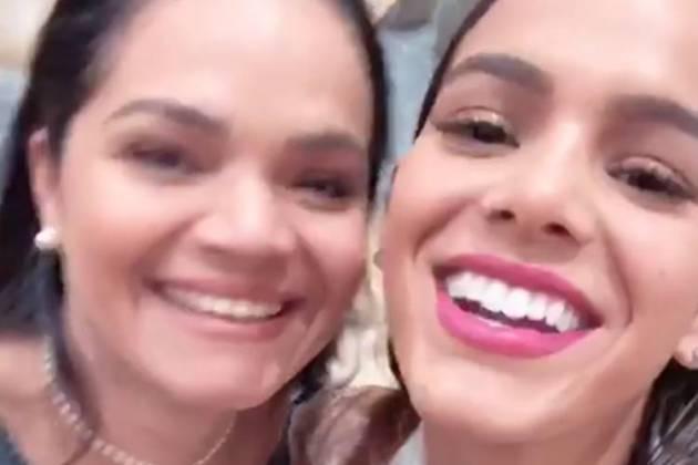 Bruna Marquezine com a mãe/Instagram