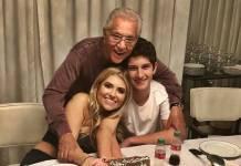 Carlos Alberto de Nóbrega com os filhos/Instagram