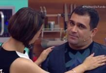 Cátia Fonseca e Evandro Santo - Reprodução/Band
