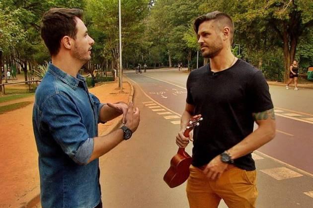 Dado Dolabella em entrevista ao Domingo Espetacular (Divulgação/ Record TV)