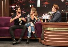 Diego e Fran no Programa do Porchat (Antonio Chahestian/Record TV)