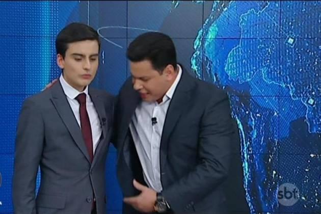 Dudu Camargo e Marcão do Povo - Reprodução/SBT