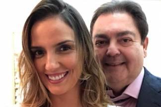 Faustão e a mulher Luciana/Instagram