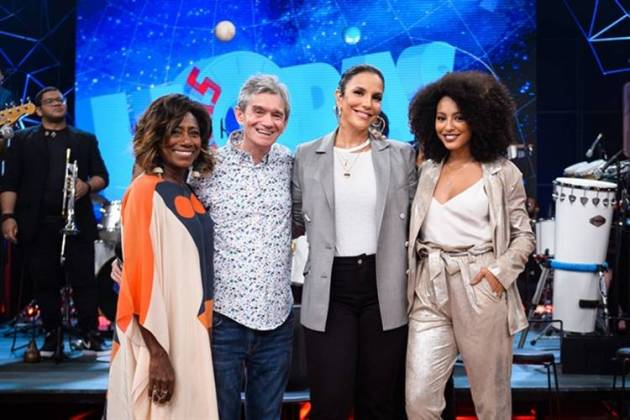 Gloria Maria - Serginho - Ivete - Sheron (Globo/Ramón Vasconcelos)