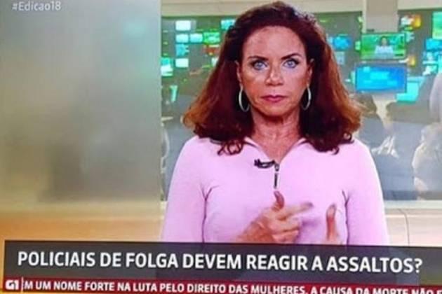 Leilane Neubarth ao vivo na Globo News - Reprodução/GloboNews