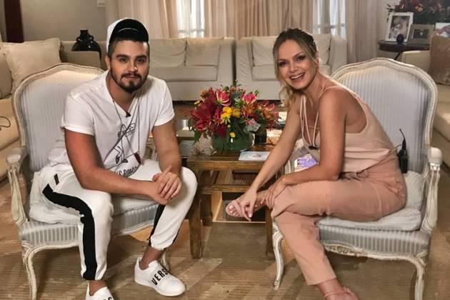 Luan Santana e Eliana (Divulgação/SBT)