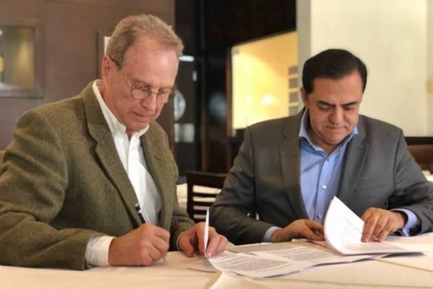 Marcos Tolentino assina contratação de Hermano Henning/Instagram
