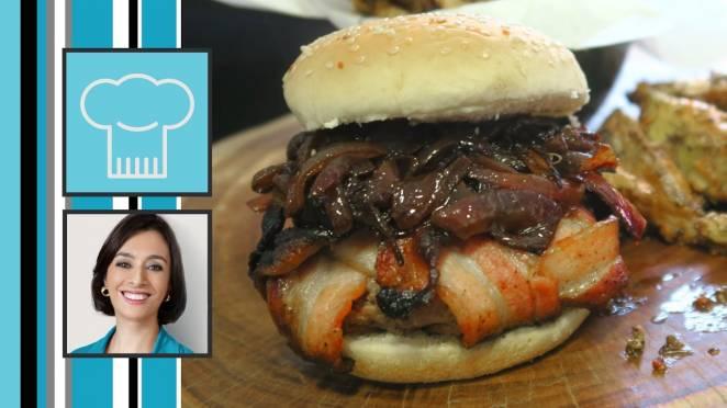 Receita de Hamburguer Explosão de Bacon
