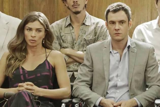 O Outro Lado do Paraiso - Livia e Gael (Reprodução/TV Globo)