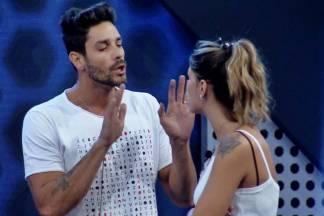 Power Couple - Diego e Fran discutem (Divulgação/Record TV)