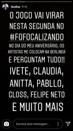 Stories Leo Dias/Instagram