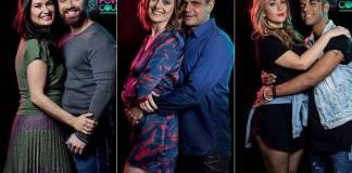 Letícia e Marlon,Liége e André ouNadja e Vinícius D'Black - Power Couple Brasil