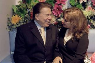 Silvio Santos e Iris Abravanel - Leticia Godoy/MIS/Divulgação