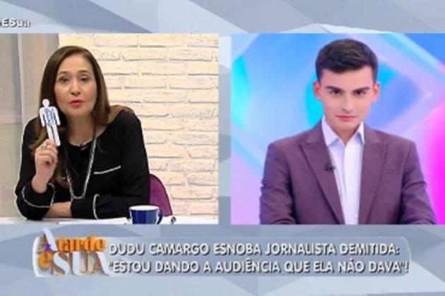 Sonia Abrão e Dudu Camargo - Reprodução/RedeTV