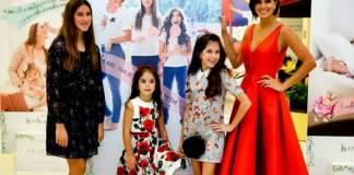 Vera Viel com as filhas (Foto:Cinara Piccolo)