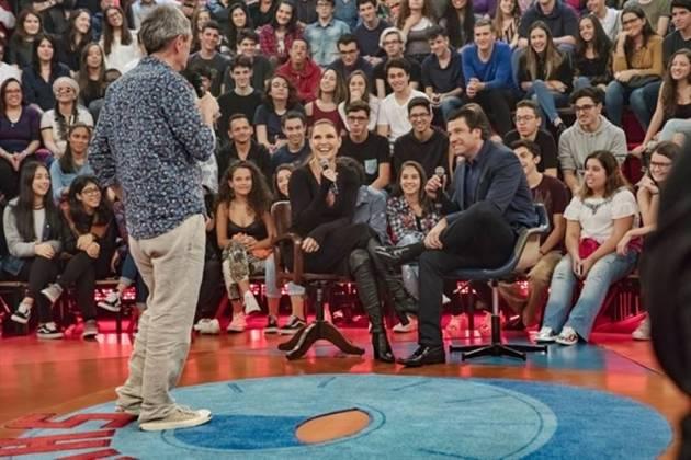 Altas Horas - Serginho com Laura Muller e o namorado (TV Globo)