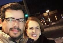Celso Portiolli e a esposa - Reprodução/Instagram