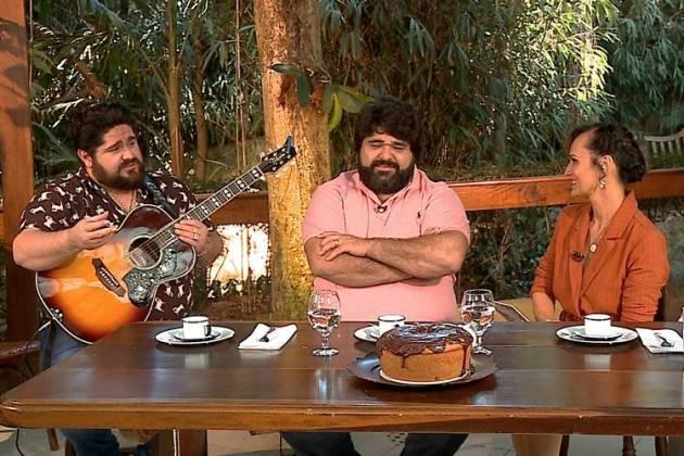 César Menotti e Fabiano com Faa Morena (Divulgação/Rede TV)