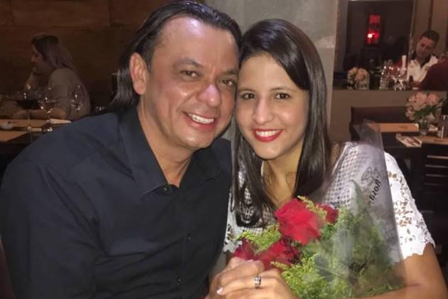 Frank Aguiar e Caroline/Divulgação