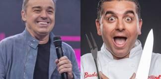 Gugu e Buddy (Edu Moraes/Record TV)