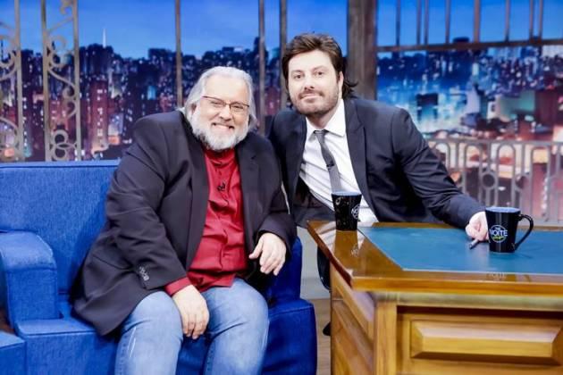 Leão Lobo e Danilo Gentili (Gabriel Cardoso/SBT)