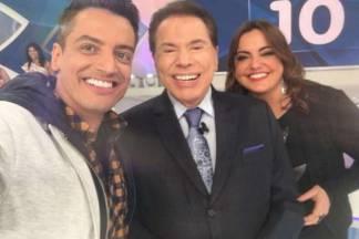 Leo Dias, Silvio Santos e Fabíola Reipert - Reprodução/Instagram