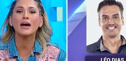 Lívia Andrade e Leo Dias - Reprodução/SBT