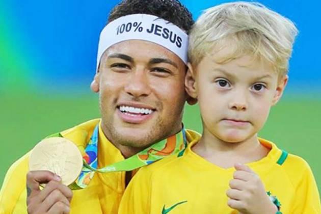 Neymar e Davi Lucca - Divulgação/CBF