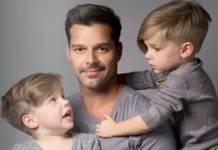 Ricky Martin e os filhos - Reprodução/Facebook