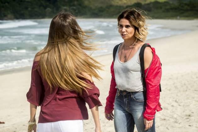 Segundo Sol - Luzia e Karola se enfrentam ( Globo / João Cotta)