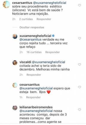 Conversa de Xuxa com seguidores - Reprodução/Instagram