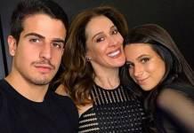 Enzo, Claudia Raia e Sophia - Reprodução/Instagram