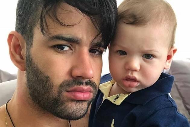 Gusttavo Lima e Gabriel - Reprodução/Instagram