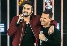Luan Santana e Eduardo Costa (Globo/Fábio Rocha)