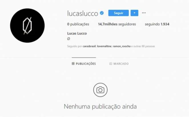 Perfil de Lucas-Lucco/Instagram