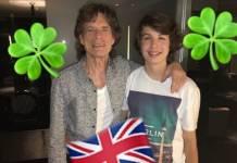Mick Jagger e Lucas Jagger - Reprodução/Instagram