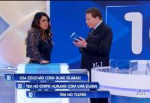 Preta Gil e Silvio Santos - Reprodução/SBT