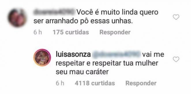 Resposta Luísa Sonza - Reprodução/Instagram