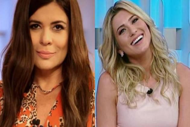 Mara Maravilha e Lívia Andrade - Montagem/Área VIP
